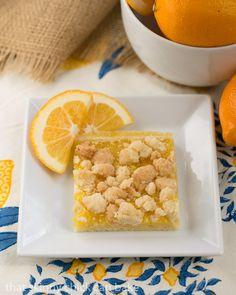 Meyer Lemon Streusel Bars #PAMCookingSpray #ad