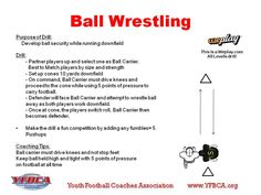Ball Wrestling - Rushing Drills for All Ages - Youth Football - Weplay Youth Football Drills, Football Defense, Football 101, Football Equipment, Running Drills, Russell Athletic, Running Back, American Football, Training Tips