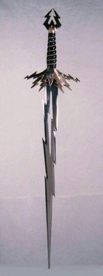 This sword would actually be deadlier than a regular sword I would say due to the sharp, jagged edges...