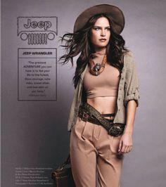 """JEEP WRANGLER com Melissa Haro: uma """"Indiana Jones"""" bem aventureira."""