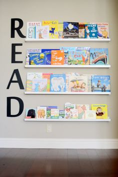 Project Nursery - Oversized Wooden Letters from The Spotted Zebras