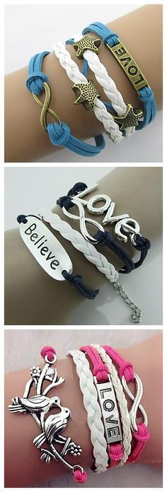 Love and Believe. Life is beautiful.  Check out these bracelets!
