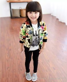Spring Autumn Children Coats Cotton Cartoon Zipper Double Deck Long Sleeve Cardigan Coat 2 7y Sy457 Children Winter Jackets Jacket For Children From Rongrong2009, $52.27  Dhgate.Com