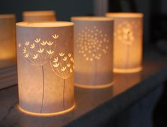 Set of three Seed Head Candle Lights by Hannahnunn on Etsy, $95.00