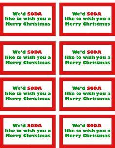 Revered image in secret santa tags printable
