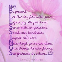 Blessings ~ #kindness #joy For the app of beautiful wallpapers ~ www.everydayspirit.net xo