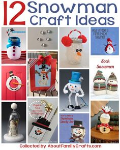 12 Snowman Craft Ideas