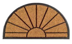 Imports Decor Halfround Rubber Back Coir Doormat Sunburst 18Inch by 30Inch * Read more  at the image link.