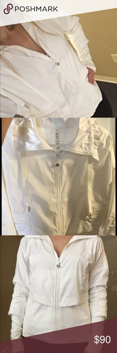 Lululemon athletica jacket Super cute, white jacket size 10! Practically in brand new condition! lululemon athletica Jackets & Coats