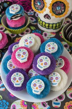 Looking for a colorful and creative Halloween treat to serve to your little ghouls this year? These vibrant Sugar Skull Oreo cookies are easy to make and  inspired by one of my favorite movies…