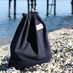 Blue TwelveBag Drawstring Backpack, Bucket Bag, Universe, Backpacks, Blue, Collection, Products, Fashion, Moda