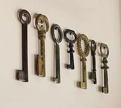Vintage Keys, Set of 7 from Pottery Barn. Saved to The Naturalist. Shop more products from Pottery Barn on Wanelo. Under Lock And Key, Key Lock, Antique Keys, Vintage Keys, Antique Hardware, Vintage Decor, Little Girl Shoes, Old Keys, Keys Art