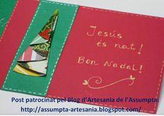 Artesania Assumpta: Tot fet a mà: Postals de Nadal fetes a casa.