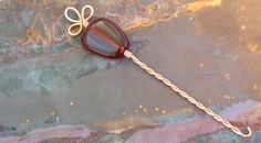 Beaded Copper Orifice Hook  a spinning wheel by spindlecatstudio, $18.00