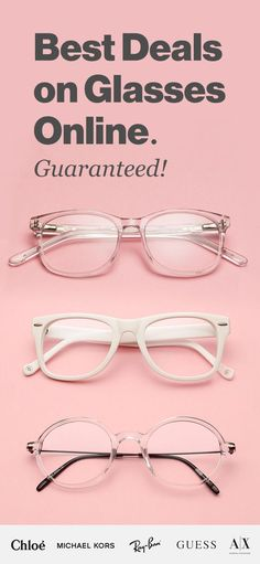 Shop prescription glasses online. Stylish frames & quality lenses from $38. Get free shipping & returns with a 100% money back guarantee.