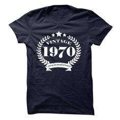 nice  Vintage 1970 Aged to perfection Birthday tee shirt