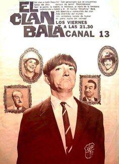 Publicidad del programa EL CLAN BALA, con Carlos Balá. Canal 13, Buenos Aires, década del 60.