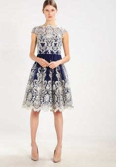 3210f624d5aa Chi Chi London YAZZY - Cocktail dress   Party dress - navy for Free  delivery for orders over