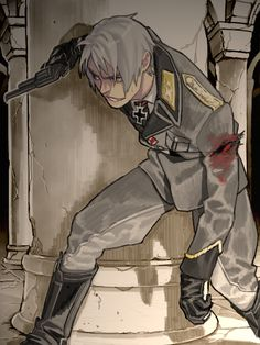 Prussia. Gets shot but this bad ass its still coming after you. You better be scared.