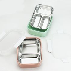 Stainless Steel Containers, Stainless Steel Lunch Box, Storage Boxes, Food Storage, Modern Lunch Boxes, Thermal Lunch Box, Bento Box Lunch, Chrome, Cookware