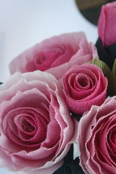 Detail, Ombre Roses by Gemma Peters.  Italian Florist Crepe