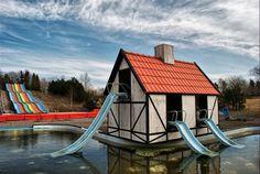 Denmark abandoned water slide Fyens sommerland