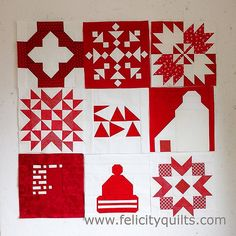 My block collection for The Canadian Sampler. - Felicity Quilts