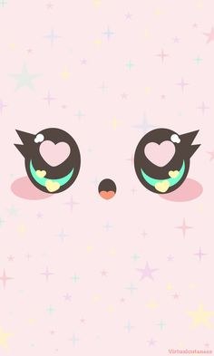 """As my shop name suggests, I absolutely adore kawaiithings! So I wanted to share my love for """"kawaii"""" by creating this free Phone Wallpaper for you! The wallpaper is inspired by fairy k…"""