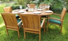 Ocean Oval Table & 6 Pacific Armchairs Set Oval Table, Table And Chair Sets, Outdoor Furniture Sets, Outdoor Decor, Local Stores, Armchairs, Fresco, Ocean, Entertaining