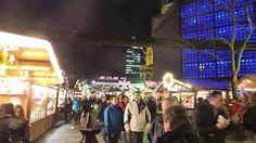 Entering The Christmas Market at Potsdamer Platz.