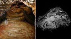 Rosetta spies Jabba the Hutt on comet 67P http://pronewsonline.com  Jabba the Hutt (L) and Comet 67P © Reuters / twitter.com/Rosetta_OSIRIS