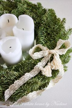 Advent wreath 2013 My little white home by Nadine
