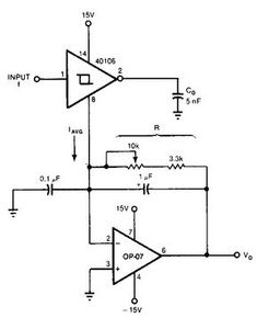 Example schematic for amplifying a photodiode using an op