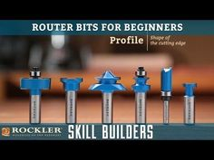 Wood Profits Quality Router Bits For All Your Woodworking Needs. Find a Large Selection of Edge Forming, Flush Trim, Molding Bits, Beading Bits and More at Rockler. Woodworking Cnc Machine, Woodworking Router Bits, Woodworking Tools For Beginners, Woodworking Courses, Essential Woodworking Tools, Antique Woodworking Tools, Woodworking Shows, Woodworking Supplies, Wood Working For Beginners