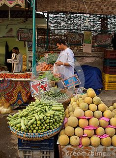 Hurghada market, Egypt