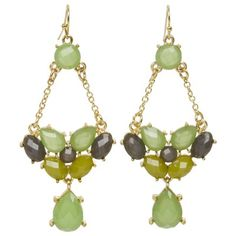 {We're obsessed with all things Kirra Tate!} Link Lime & Gray Chandelier Earrings. #laylagrayce #green #earrings