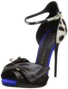 Giuseppe Zanotti Women's Ankle Strap Pinned Dress Sandal,Nero