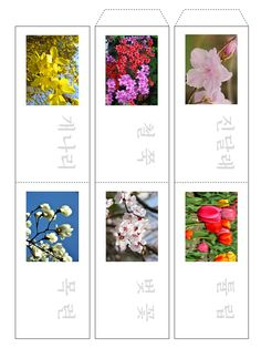 [made-me 공유종료] 봄 교구 도안 : 네이버 블로그 Learn Korean, Floral Tie, Learning, Spring, Frame, Pictures, Kids, Picture Frame, Photos