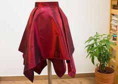 Taffeta Skirt  Asymmetrical square cut by AttitudeBalletShop