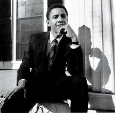 28 year old Barack Obama, in his first Vanity Fair appearance after becoming president of the Harvard Law Review.