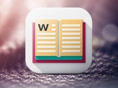 Icon Idea. Wordie Dictionary Icon by Dmitry Prudnikov for Yalantis
