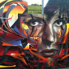 Interesting Graffiti Style; shared by Aragon Entertainment http://www.aragonent.com/
