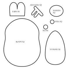 How To Make A Kawaii Molang Reindeer Plushie Tutorial | Hapy Friends Shoppe