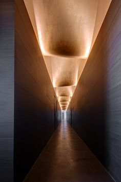 Cement Design at Brera Design District - sandra pins Spa Interior, Lobby Interior, Interior Lighting, Modern Interior Design, Interior Design Living Room, Hotel Hallway, Hotel Corridor, Corridor Lighting, Cove Lighting