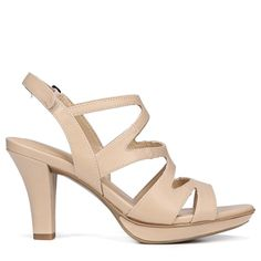 2559389ad0142a Naturalizer Women s Dianna Medium Wide Dress Sandals (Taupe Smooth) Slingback  Sandal