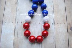 Red Blue and White 4th of July Bubblegum by LauraLeeDesigns108, $14.99