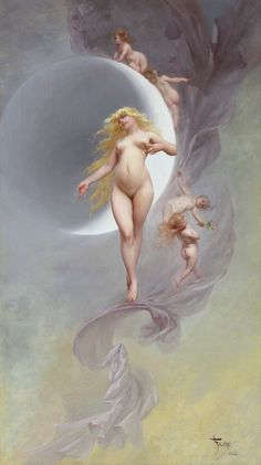 Astronomical paintings by Luis Ricardo Falero (1851-1896)