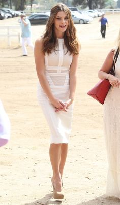Ashley Greene arrives at The Third Annual Veuve Clicquot Polo Classic. 10-6-2012