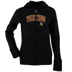 44b908b2b Antigua Minnesota Vikings Ladies Signature Full Zip Hoodie - Black Hoody