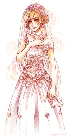 Rose in a wedding gown #Homestuck is she gonna marry Kanaya?